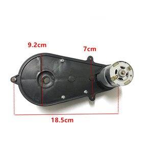 Image 4 - Motor eléctrico de coche para niños con caja de cambios 12v 6V caja de engranajes reductor automóvil bebé, motor de caja de cambios 550