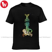 Skeleton T Shirt Men Casual 100 Cotton Print Tee Shirt Short-Sleeve Classic T-Shirt Plus size