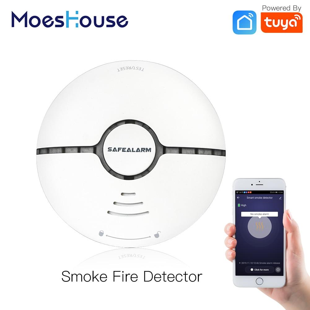 WiFi intelligent fumée alarme incendie détecteur détecteur système de sécurité à la maison batterie alimenté alarme sans fil vie intelligente Tuya App contrôle