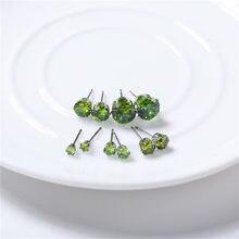 Fashion tud Earrings Set For Women Mixed Crystal Heart Metal Ball Earrings Wedding Bride Jewelry Earrings Set