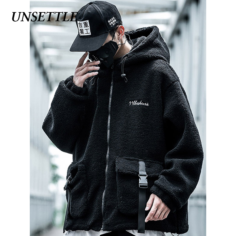 UNSETTLE 2019 Men/Women Fleece Jacket Coat Winter Casual Thicken Warm Parkas Pocket Men Windbreker Lamb Jacket Men Outwear