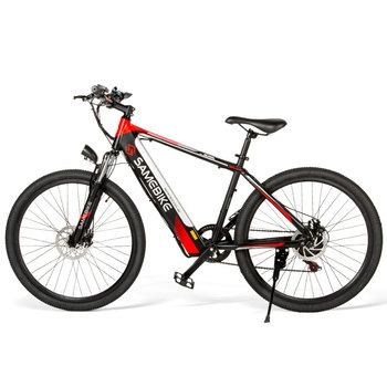 SAMEBIKE Red&Black Mountain Bike with 26 Inches Supplier Cross-Border