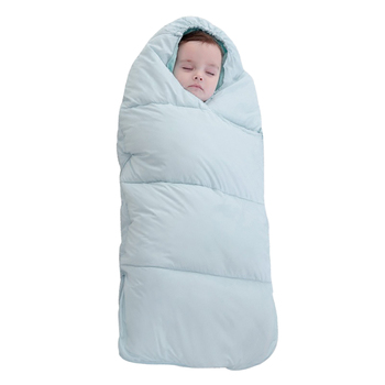 80cm Autumn Winter Thicken Sleep Bag Warm Cold-Proof Anti-Kick Sleeping Bag For 0-1 Year Old Baby - Tiffany Blue/Funier Pink/Red