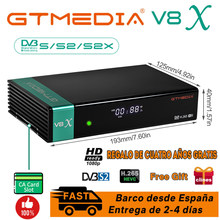 Hd gtmedia v8x DVB-S2 receptor de satélite mesmo que gtmedia v8 nova atualização freesat v8 honor suporte h.265 built-in wi-fi