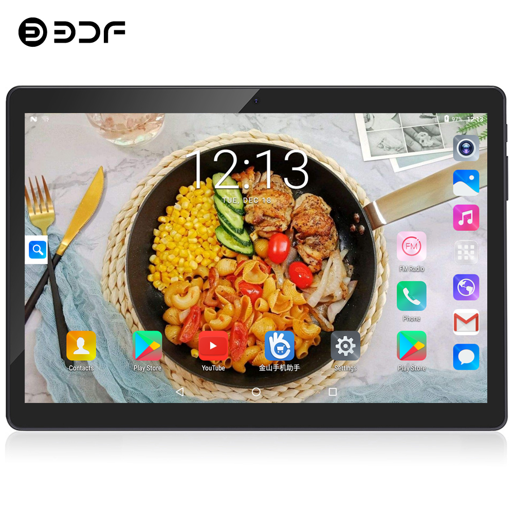 BDF 2020 Global Version Android 4.4 OS 10 Inch 3G Call Tablet Pc Quad Core 1GB RAM 16GB ROM 1280*800 Dual SIM Cards Tablet 10.1