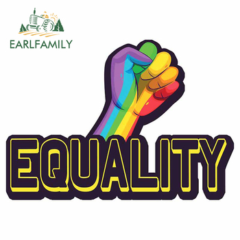 EARLFAMILY 13cm x 9.4cm for Equality Car Stickers Motorcycle Helmet Kid's Room Wall SUV Creative Stickers Window Trunk Decal image