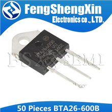 50pcs/lot  New BTA26 600B  BTA26 600B 25A 600V  BTA26600B  TRIACS TO 3P