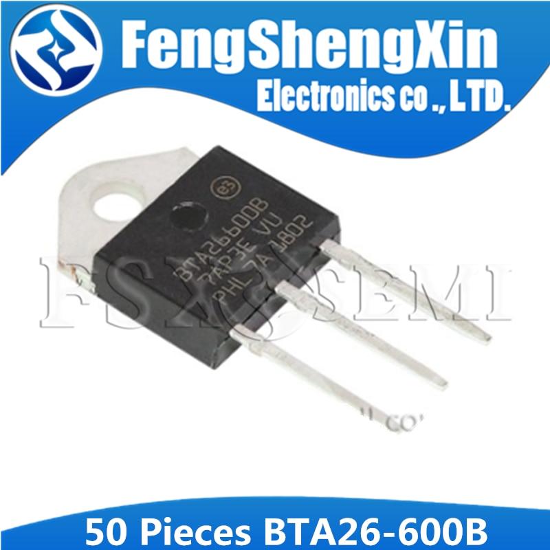 5PCS BTA26-600B TRIAC 600V 25A TOP3 NEW