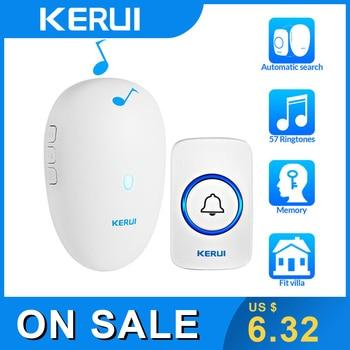 цена на KERUI Wireless Doorbell Home Security Welcome Smart Doorbell 57 Chime 80m Remote Control EU US UK Plug Wireless Button Door Bell