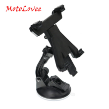 цена на MotoLovee Adjustable Car Tablet Holder Universal 360 Rotation Car Windshield Suction Cup Mount Holder Stand Bracket For iPad