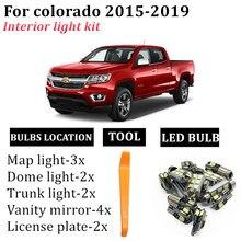 13x t10 auto lâmpadas led interior do carro cúpula leitura luzes tronco para chevrolet chevy colorado 2015 2016 2017 2018 2019 led
