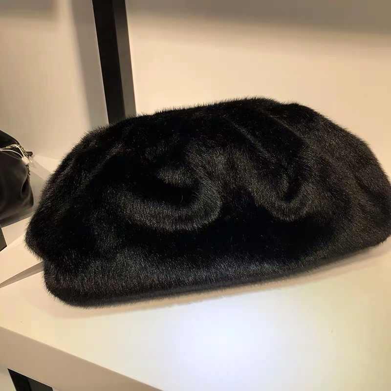 2019 bolsos de piel de invierno bolso sobre la bolsa de esponja suave bolso voluminoso famoso diseñador bolsos y bolsas de noche