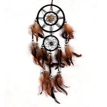 Catcher-Shell Wall-Hanging Wind-Chimes Home-Decoration Crafts Handmade Brown for Car