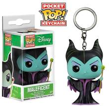 Funko pocket pop maleficent chaveiro mistress do mal figura de ação brinquedo(China)
