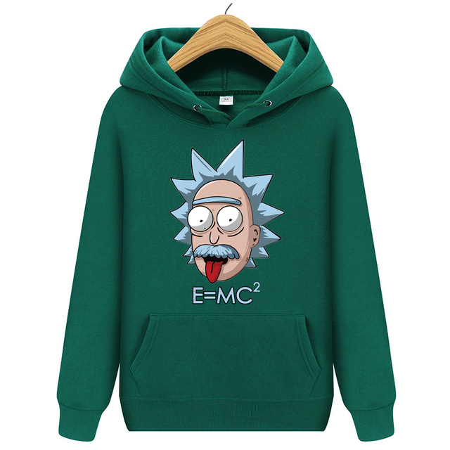 EINSTEIN RICK AND MORTY STYLE HOODIE (13 VARIAN)