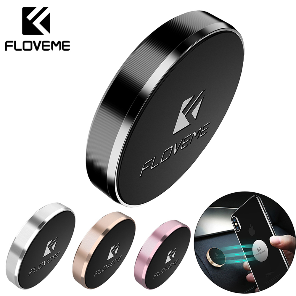 FLOVEME Car Phone Holder Magnetic Holder Universal Wall Desk Metal Magnet Sticker Mobile Stand Phone Holder Car Mount Support