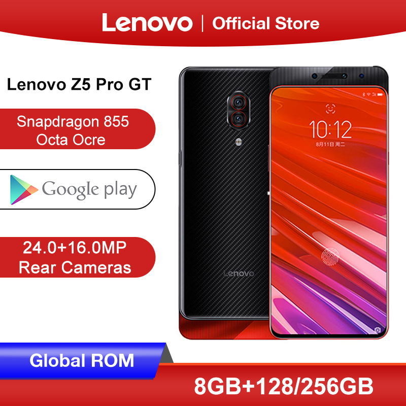 Original Lenovo Z5 Pro GT Snapdragon 855 Smartphone 8GB RAM 128GB / 256GB ROM 6.39'' In-Screen Fingerprint Android 24MP