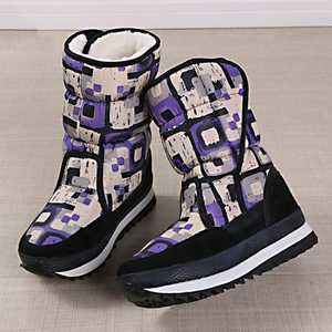 Image 5 - Women winter boots platform non slip waterproof winter shoes women ankle boots thick fur warm women snow boots for  40 degrees