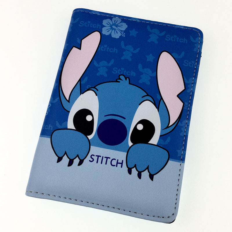 Cartoon Stitch Passport Holder Travel Accessories Passport Cover Case ID Card Holders
