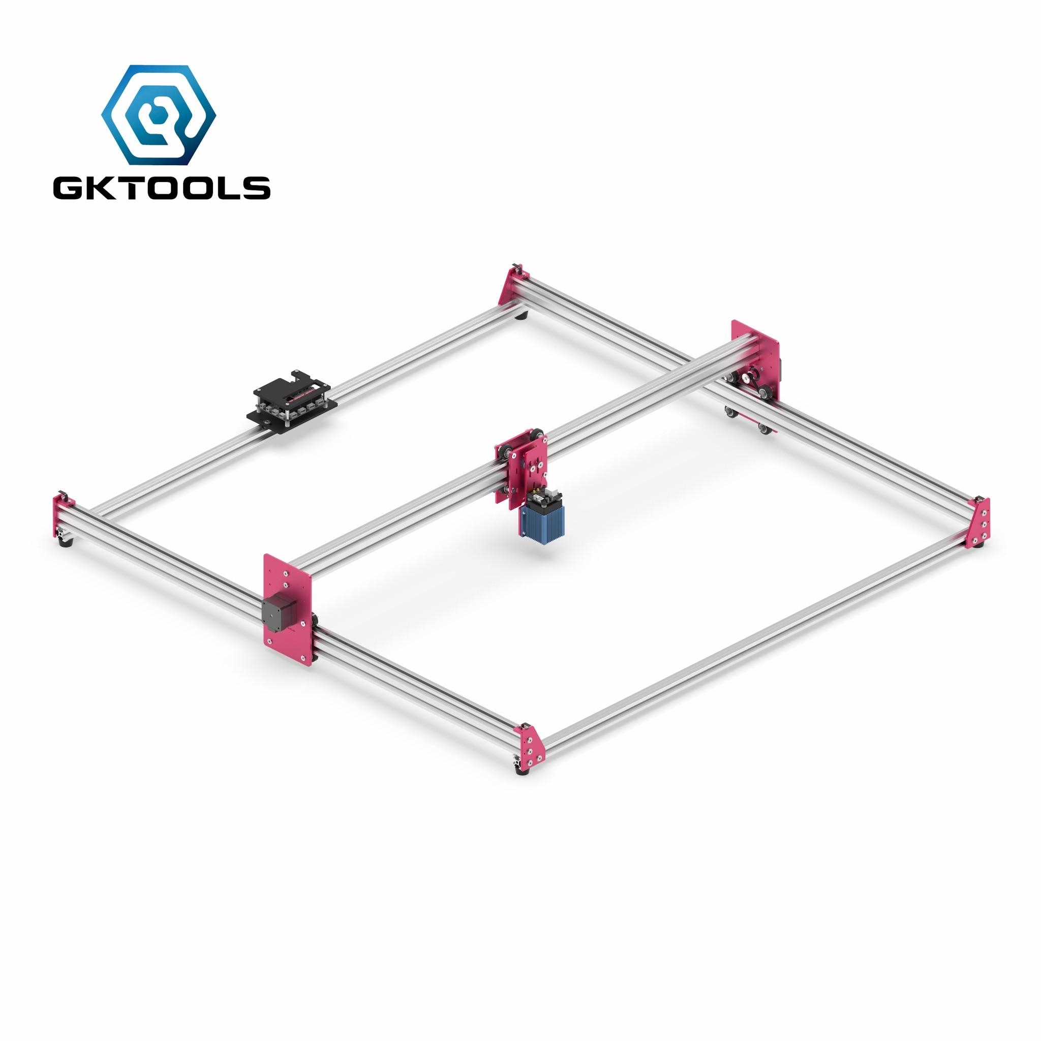 Laserowe pragnienie grawerowanie darmowa wysyłka GK1010Pro 100*100cm Mini 500/2500/5500/7500mW CNC maszyna do DIY pulpit drukarka laserowa