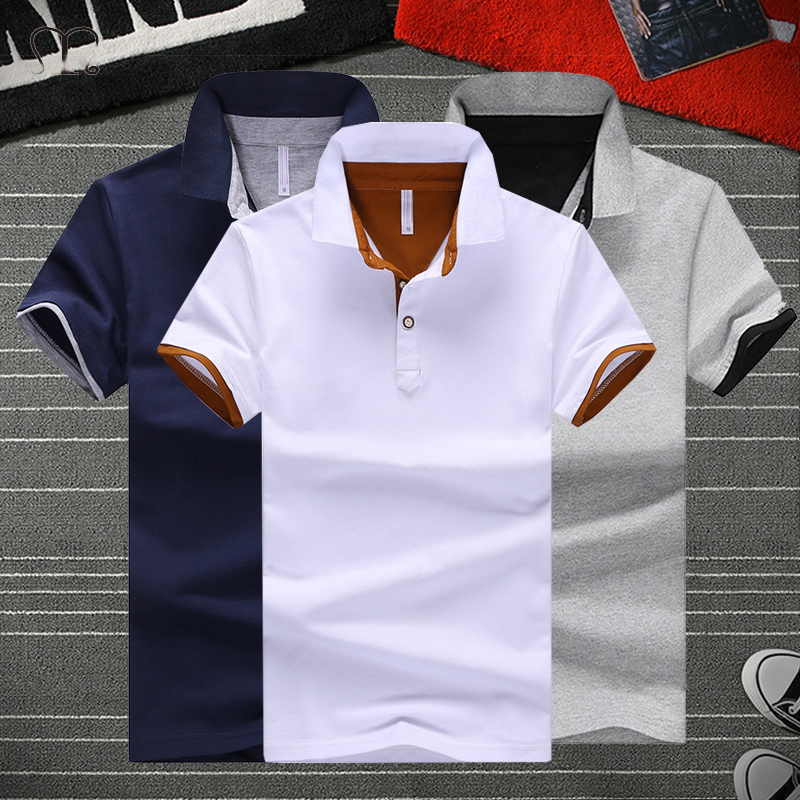 Рубашка-поло мужская с воротником-стойкой, хлопок, короткий рукав, брендовая одежда, лето, 5XL