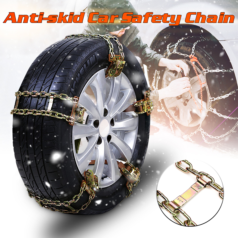 1Pcs/4Pcs Universal Anti-skid Chains Balance Design Manganese Steel Wear Resistant For Snow Ice Sand Mud Road For Driving S/M/L