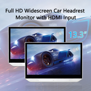 Headrest Monitor Android 9.0 12V HDMI Car TV Player display 13.3 inch Touch Screen BT Bluetooth USB Video FHD 1080P Mirror link(China)