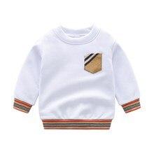 Boys T Shirts Spring Autumn Long Sleeve Tops Kids Brand Plaid Sweatshirt Children Boy Shirts Clothing Boys Clothes