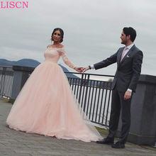 Роскошное бальное платье принцессы свадебное с длинным рукавом