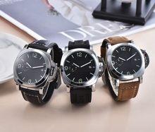 Men's Watch Luxury LUMINOR 1950 TOP brand GMT PAM00359 Quartz Wristwatch Sport Clock Relogio Masculino 44mm dial diameter AAAI