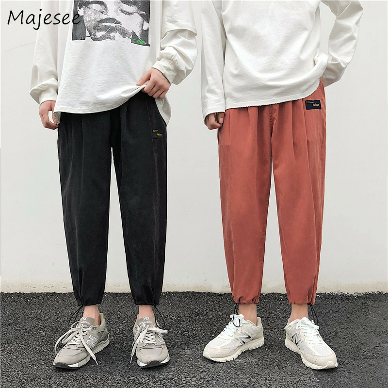 Harem Pants Men Solid Loose Casual Ulzzang All Match Mens Korean Style Plus Size Sweatpants Hot Sale Males Simple Trousers Soft