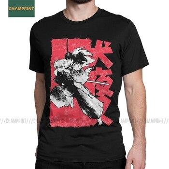 Demidemon Inuyasha Men T Shirt Sesshoumaru Kikyo Higurashi Kagome Anime Cartoon Tee Short Sleeve T-Shirts Cotton Plus Size Tops - discount item  40% OFF Tops & Tees