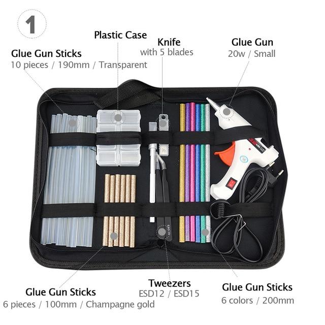 Free Shipping 6 IN 1 Glue Gun Set Professional DIY 110-240V 20W with Sticks Gift & Case 2