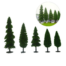 10PCS Archeitecture Finished Sandtable Model Trees For HO O N Z Scale Landscape Train Railway Multi-height Diorama Plastic Gree