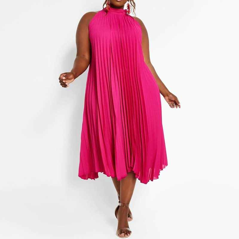 Boho Women Maxi Dress 2019 Sexy Off Shoulder Sundress Party Elegant Casual Plus Size Fashion African Halter Pleated Long Dresses