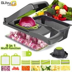 Coupe-légumes 8 en 1 6 lames à découper, trancheur, éplucheur de fruits, pomme de terre, fromage, râpe, accessoires de cuisine