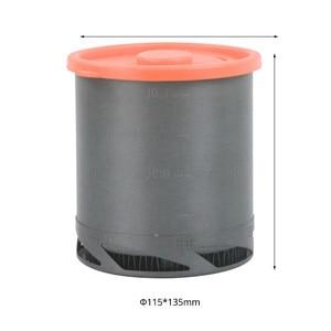 Image 2 - 屋外ポータブル熱収集交換器ポットアルマイトキャンプピクニックポット調理器具カップ調理ハイキング 1L