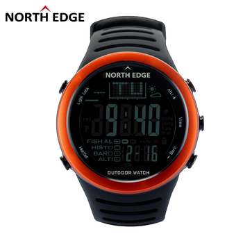 NORTHEDGE Men Digital Watches Outdoor Watch Clock Fishing Weather Altimeter Barometer Thermometer Altitude Climbing Hiking