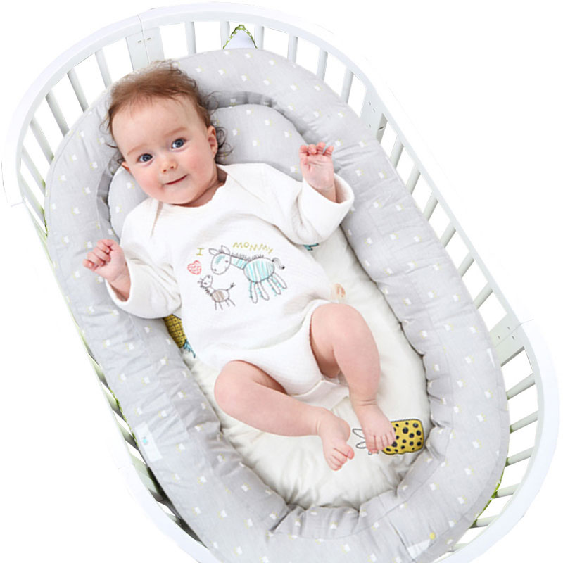 Newborn Baby Portable Removable Washable Bed Crib Travel Bed Nest For Baby Infant Kids Safety Cradle Children For Newborn Bumper
