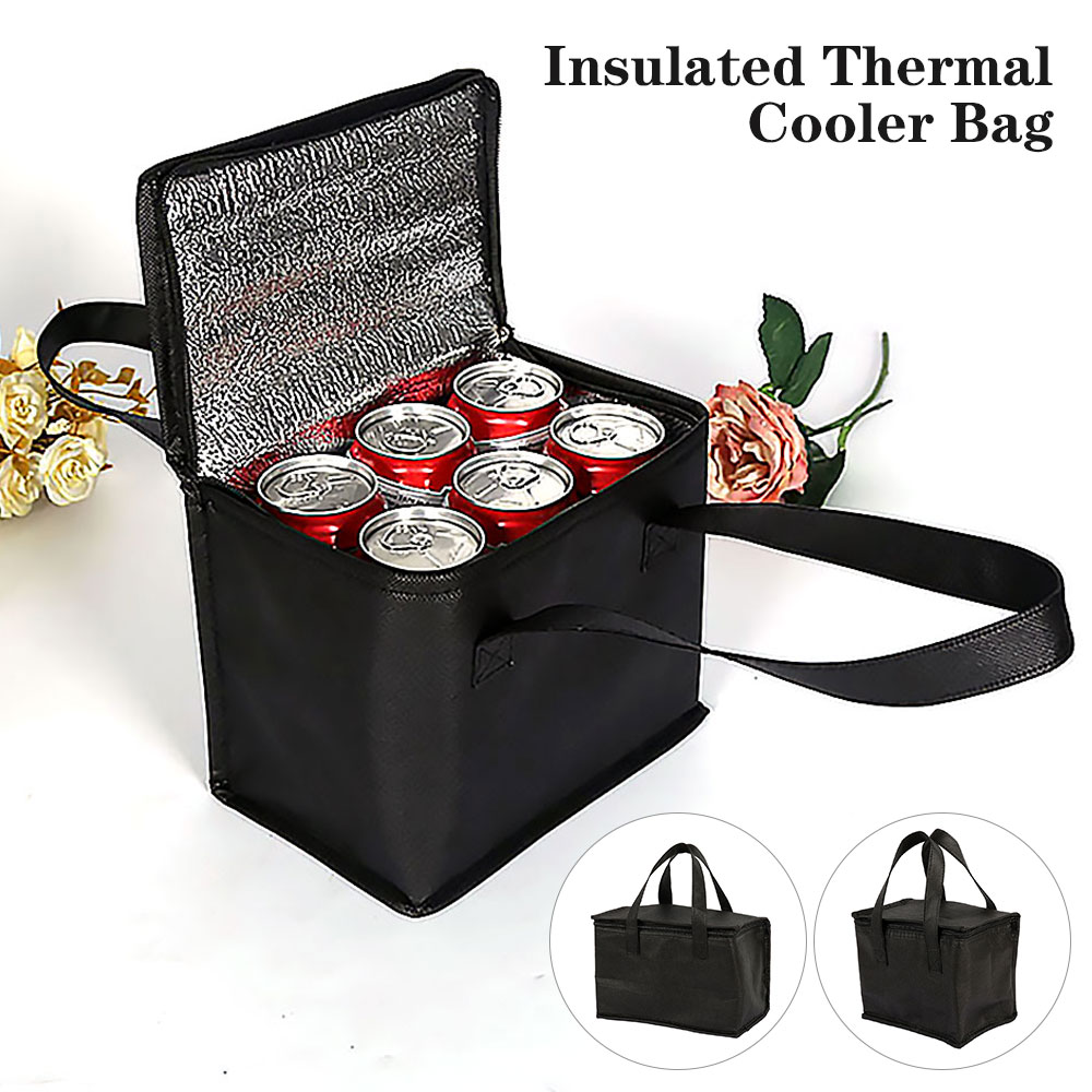 Portable Lunch Cooler Bag Folding Insulation Picnic Ice Pack Food Thermal Bag Drink Carrier Insulated Bags Food Delivery Bag