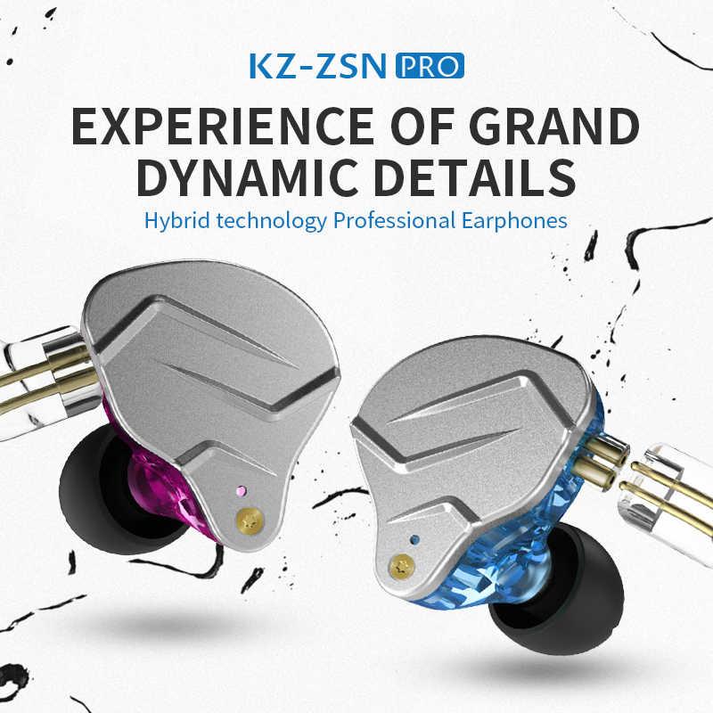 Kz zsn PRO 1BA + 1DD technologia hybrydowa HIFI metalowe słuchawki douszne słuchawki douszne sportowe słuchawki z redukcją szumów ZS10 PRO ZST AS10