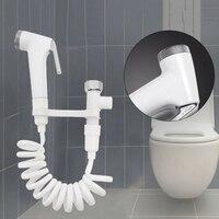 Ручной Туалет переходник shattaf спрей биде, душевая лейка настенный кронштейн ПВХ шланг для ванной комнаты инструменты для дома тканые подгуз...