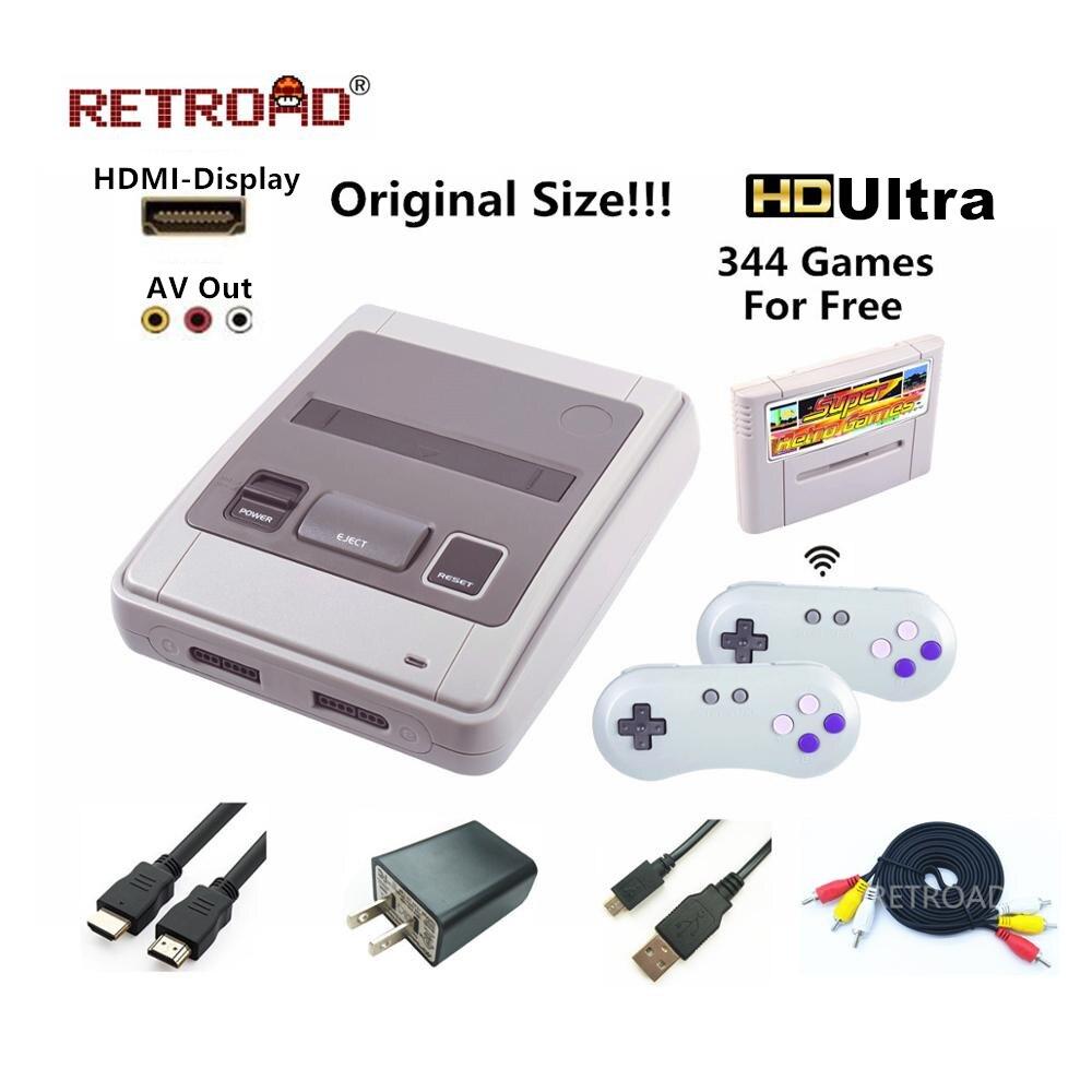 16 бит Супер ретро оборудование видео Игровая приставка RETROAD SFC52HD для Snes картридж 2,4 г джойстик Бесплатная карточная игра оригинальный Размер...