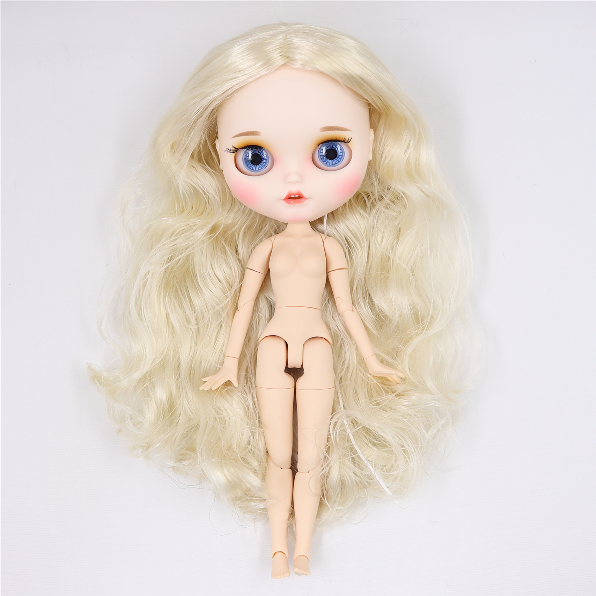"""Jointed body for your customization white skin 12/"""" Neo Blythe nude doll No hair"""