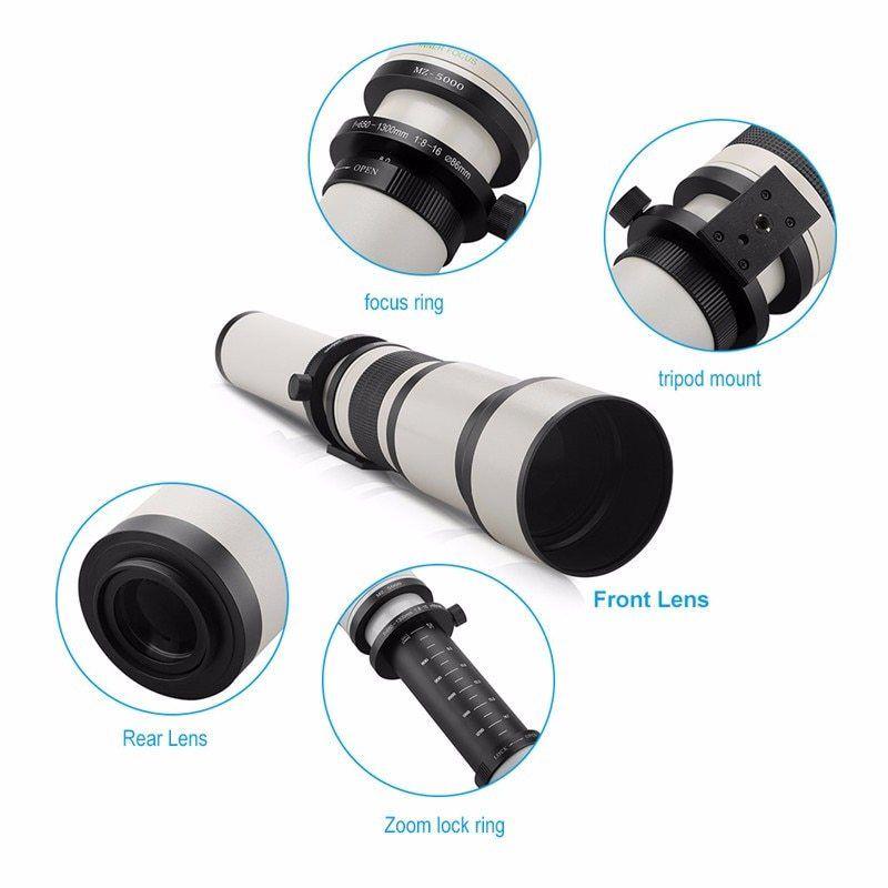 Jintu 650 2600 мм с 2x teleconver телефото зум объектив для