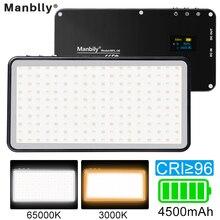 Manbily MFL 06 ledビデオライト充電式4500mah調光対応3000k 6500 18k補助光一眼レフカメラの撮影スマートフォンiphone