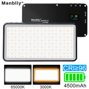 Image 1 - Manbily MFL 06 led luz de vídeo recarregável 4500mah pode ser escurecido 3000k 6500k luz de preenchimento para câmera slr fotografia smartphone iphone