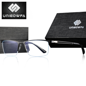 Image 3 - Semi Remless Computer Bril Frame Mannen Optische Recept Brillen Frame Clear Bijziendheid Bril Frame Anti Blauw Licht 2020