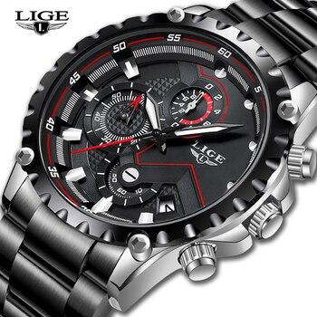 LIGE Top marque de luxe hommes montre de mode hommes Sport étanche Quartz montres hommes tout en acier armée militaire montre Relogio Masculino