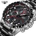 Reloj LIGE marca superior de lujo a la moda para hombre reloj deportivo de cuarzo resistente al agua reloj militar de acero para hombre reloj Masculino
